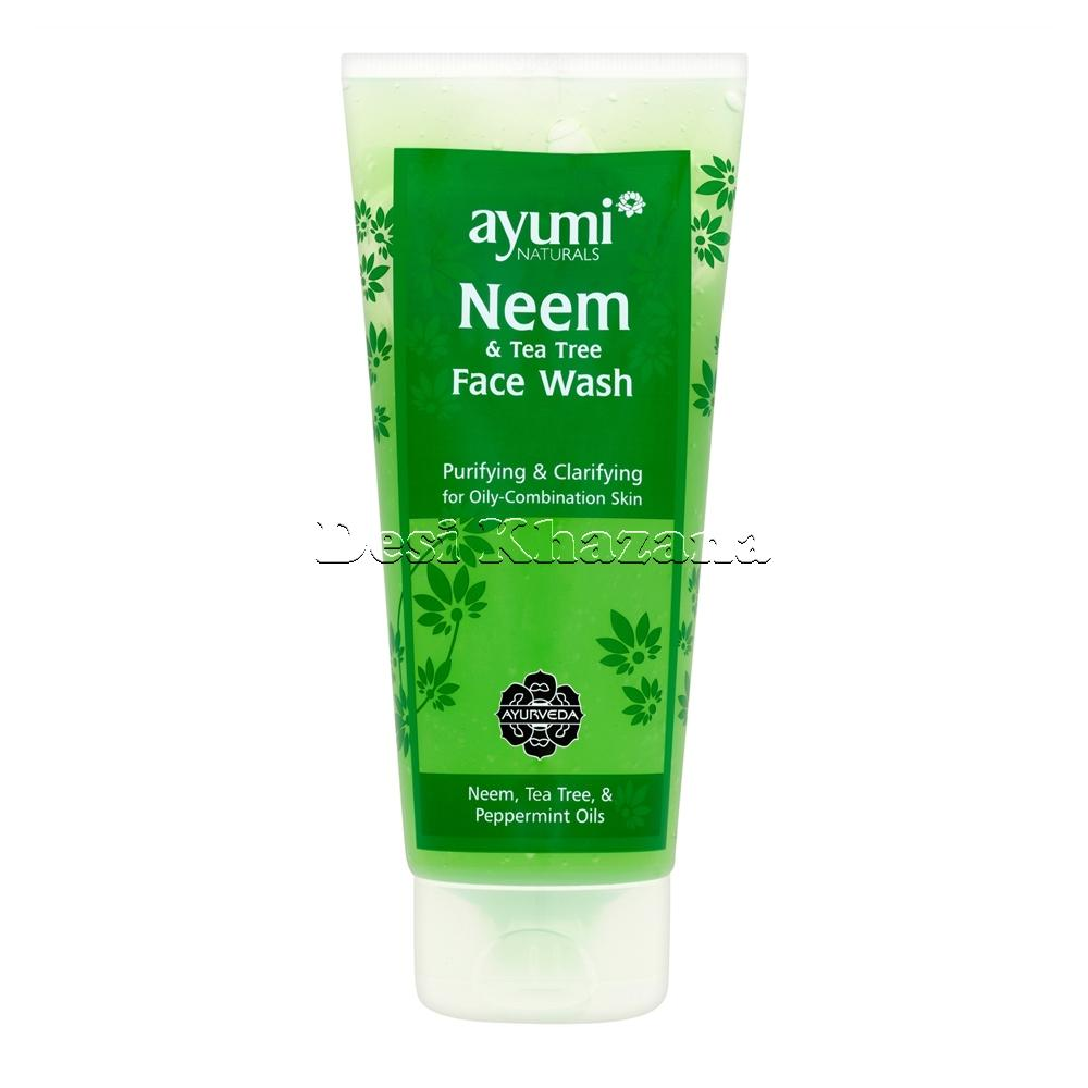 Ayumi Neem and Tea Tree Face Wash - Desi Khazana