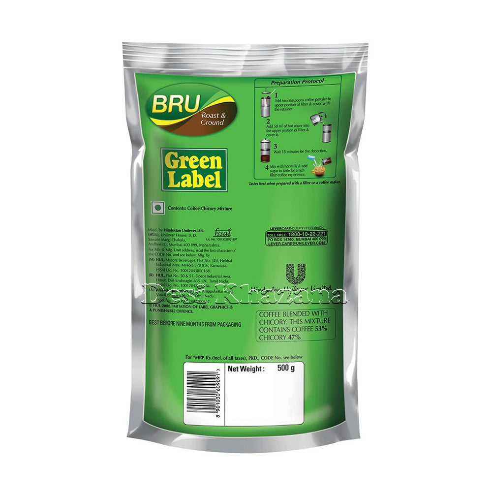 Bru Roast & Ground Filter Coffee 500 gm - Desi Khazana