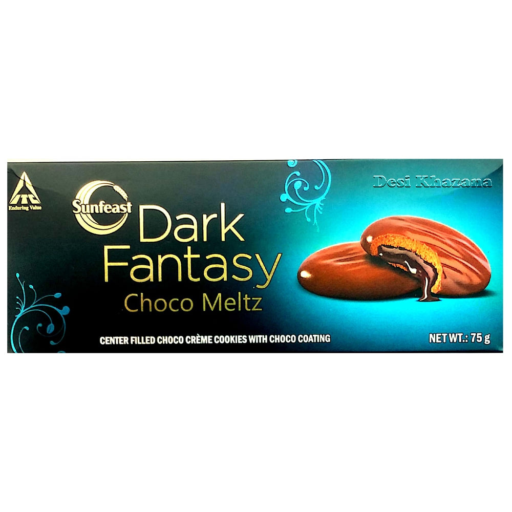 Sunfest Dark Fantasy Choco Meltz Cookies 75 gm - Desi Khazana