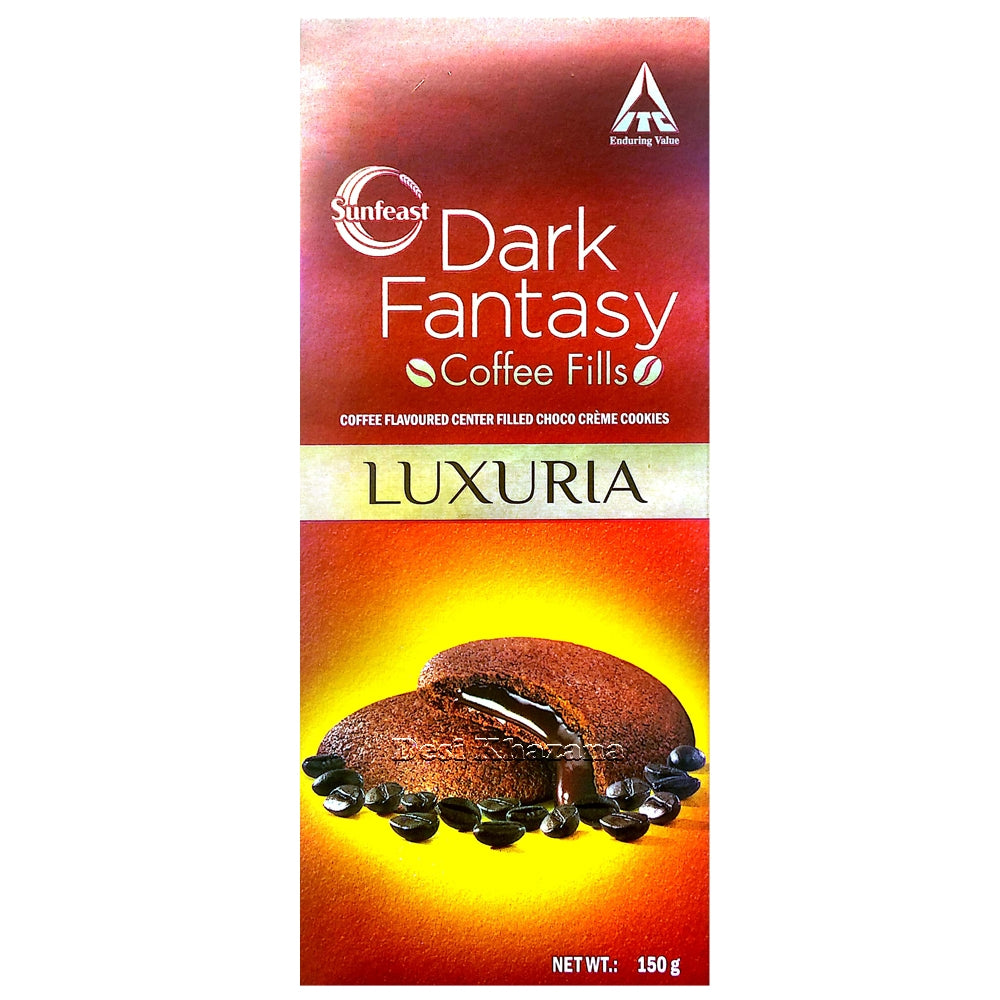 Sunfest Dark Fantasy Coffee Fills Cookies 150 gm - Desi Khazana