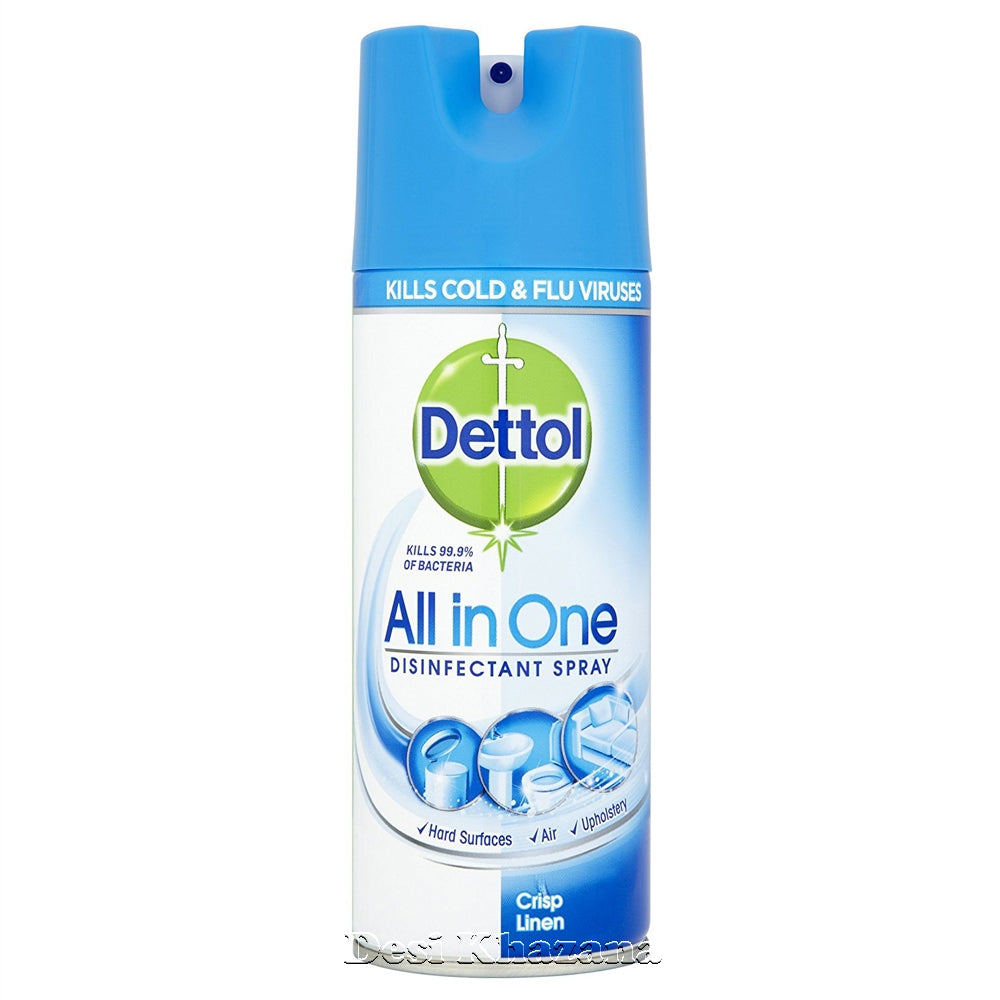 Dettol All In One Disinfectant Spray 400 ml - Desi Khazana