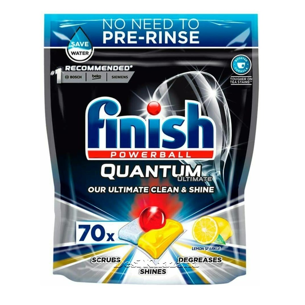 Finish Quantum Ultimate Lemon Sparkle Dishwasher Tablets Desi Khazana
