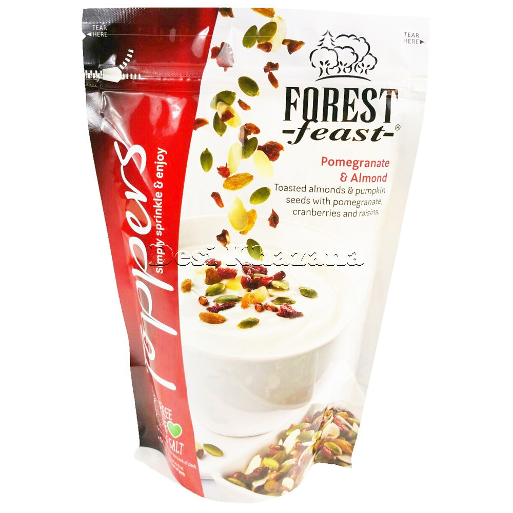Forest Feast Pomegranate & Almond Toppers 450 gm - Desi Khazana