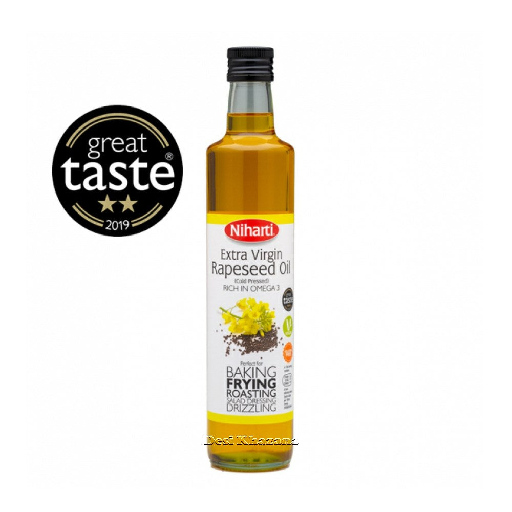 Niharti Cold Pressed Extra Virgin Rapeseed Oil Desi Khazana