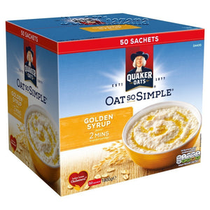 Quaker Oat So Simple Golden Syrup (50 Sachets) - Desi Khazana