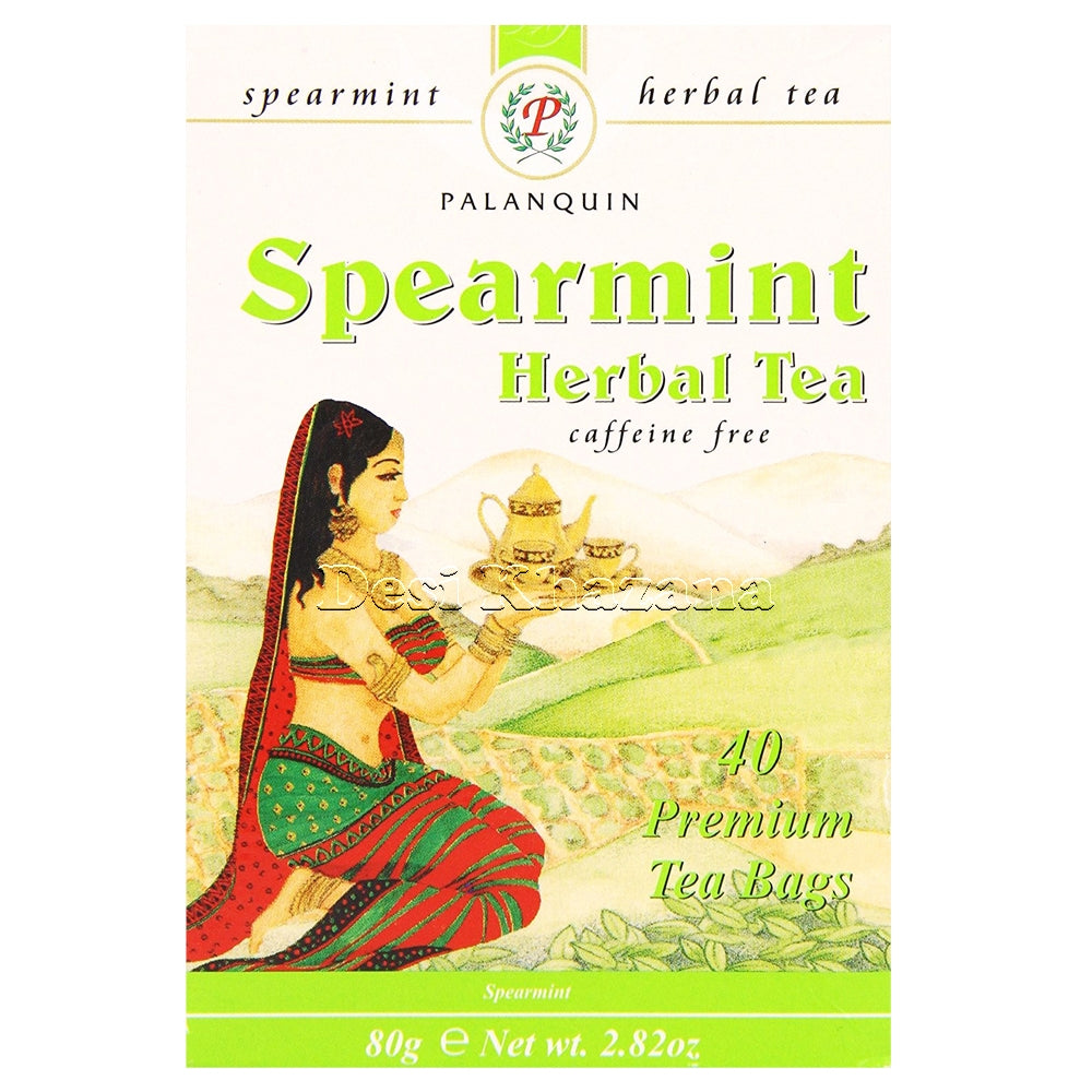 Palanquin Spearmint Herbal Tea Bags (Caffeine Free) - Desi Khazana