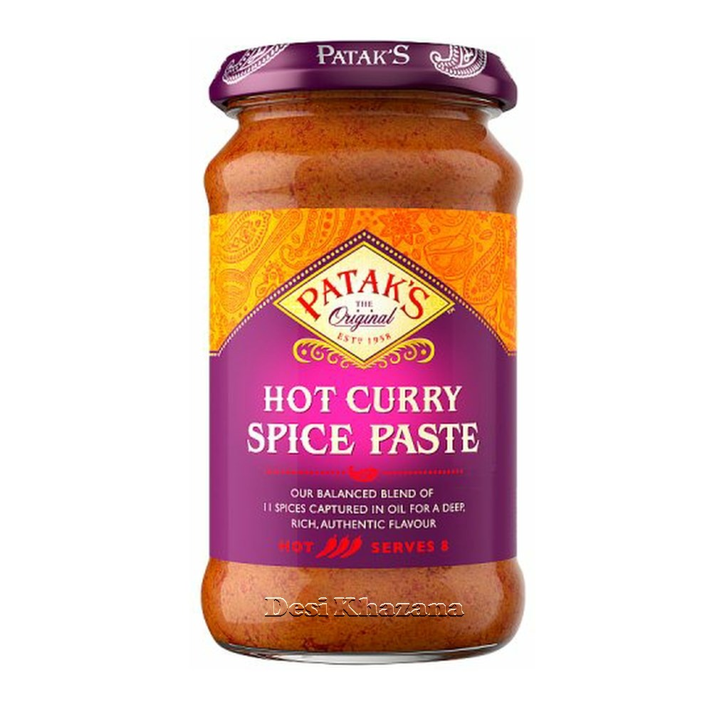 Patak's Hot Curry Spice Paste Desi Khazana