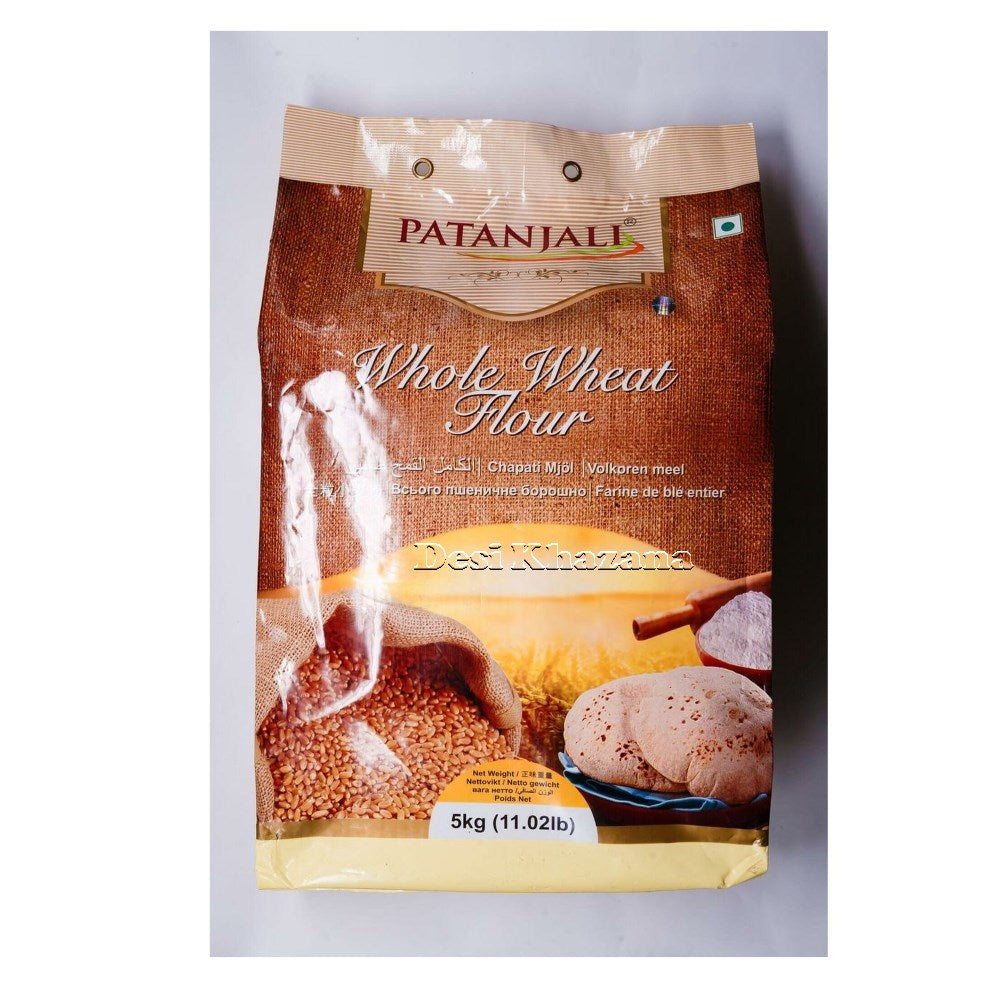 Patanjali Whole Wheat Atta 5 Kg - Desi Khazana