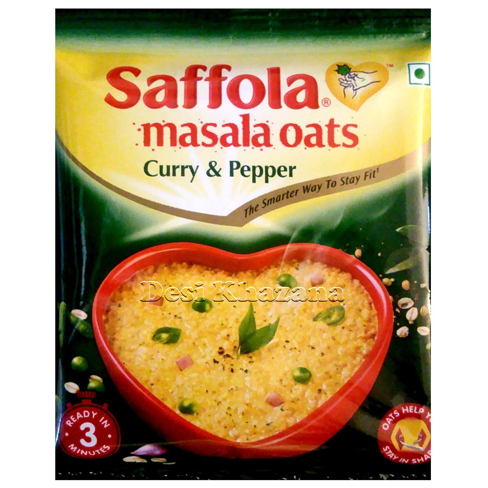 Saffola Masala Oats (Curry & Pepper) - Desi Khazana