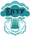 When Shtf store logo - blue explosion
