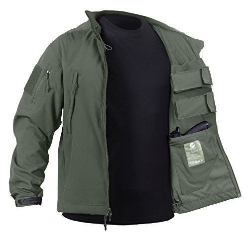 Rothco Concealed Carry Soft Shell Jacket, Olive Drab, X-Large