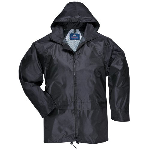 Portwest Mens Classic Rain Jacket (S440) (M) (Black)