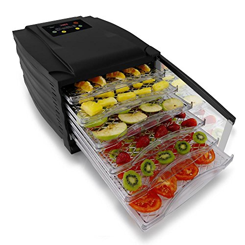 Digital Food Dehydrator | Multi Tier Shelf | Beef Jerky | Fruits, Vegetables  6 Slide Out Trays