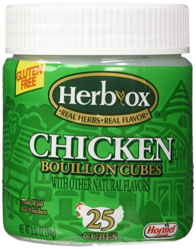 Herb-Ox Bouillon Cubes Chicken, 25 Ct 3.33-oz (Gluten Free)