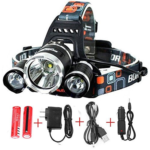 Headlamp Waterproof  , Rechargeable-8000 Lumen Bright