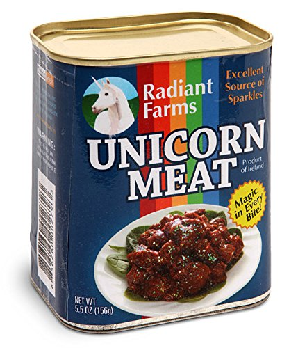 Canned Unicorn Meat: Excellent Source of Sparkles - Stuffed Plush Toy