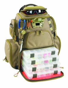 Tackle Tek Nomad Lighted Backpack with Four Trays