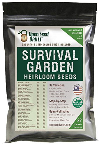 Non GMO Heirloom Vegetable Seeds - 15,000