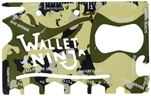 Wallet Ninja 18-in-1 Multi-purpose Credit Card Size Tool.