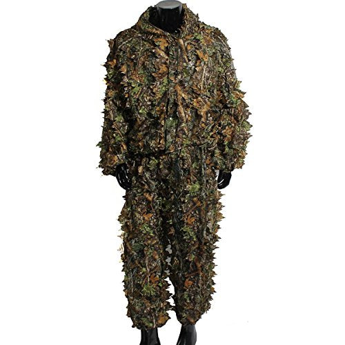 Camo  Ghillie Suit- 3D  Woodland Camouflage/Army Sniper Military,Hunting, Wildlife Photography