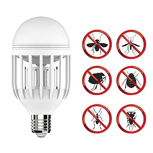 Bug Zapper Light Bulb with LED light bulb, Built in Insect Trap