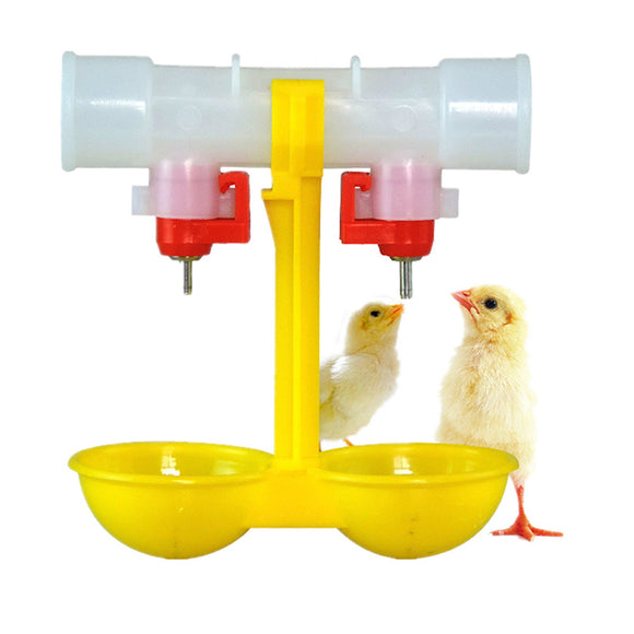 Automatic Chicken Feeder Water - Double 2-Head Drinker