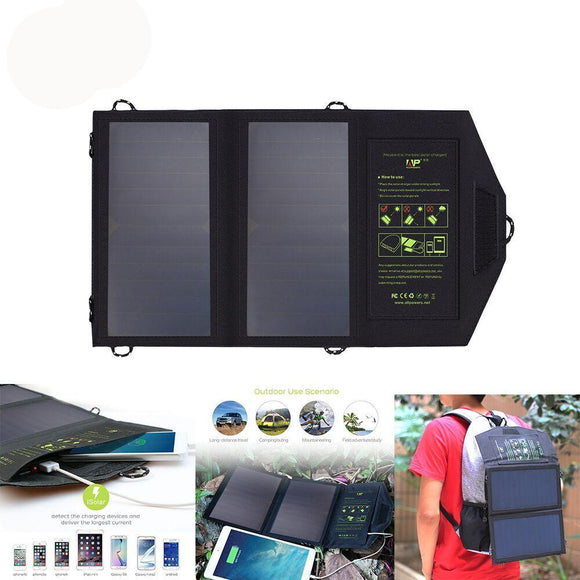 Portable Solar Panel Charger - Charge While Walking