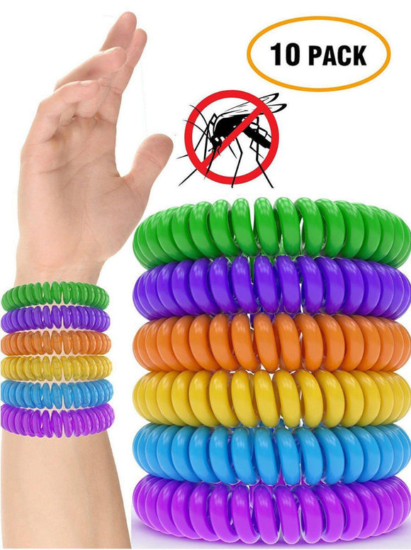 Natural Mosquito Repellent Bracelet (10 Pack)