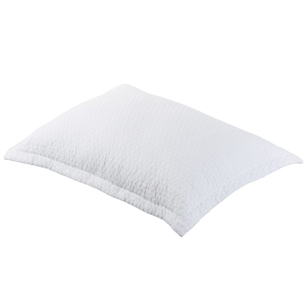 Aspen White Quilted Pillowcase