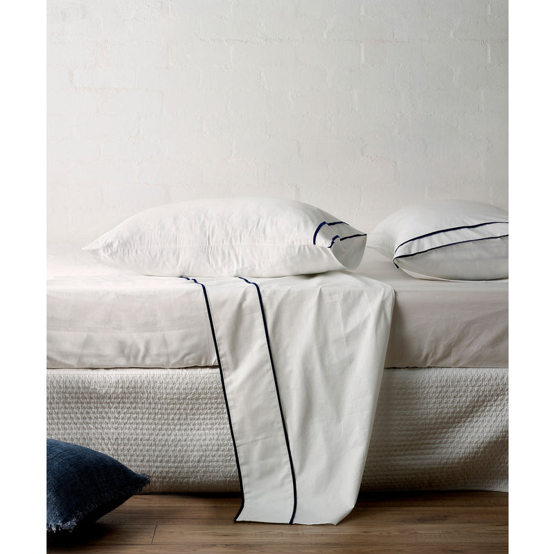 Grosgrain Navy Duvet Cover Set