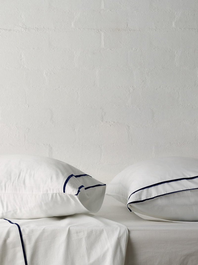 Grosgrain Navy Pillowcase