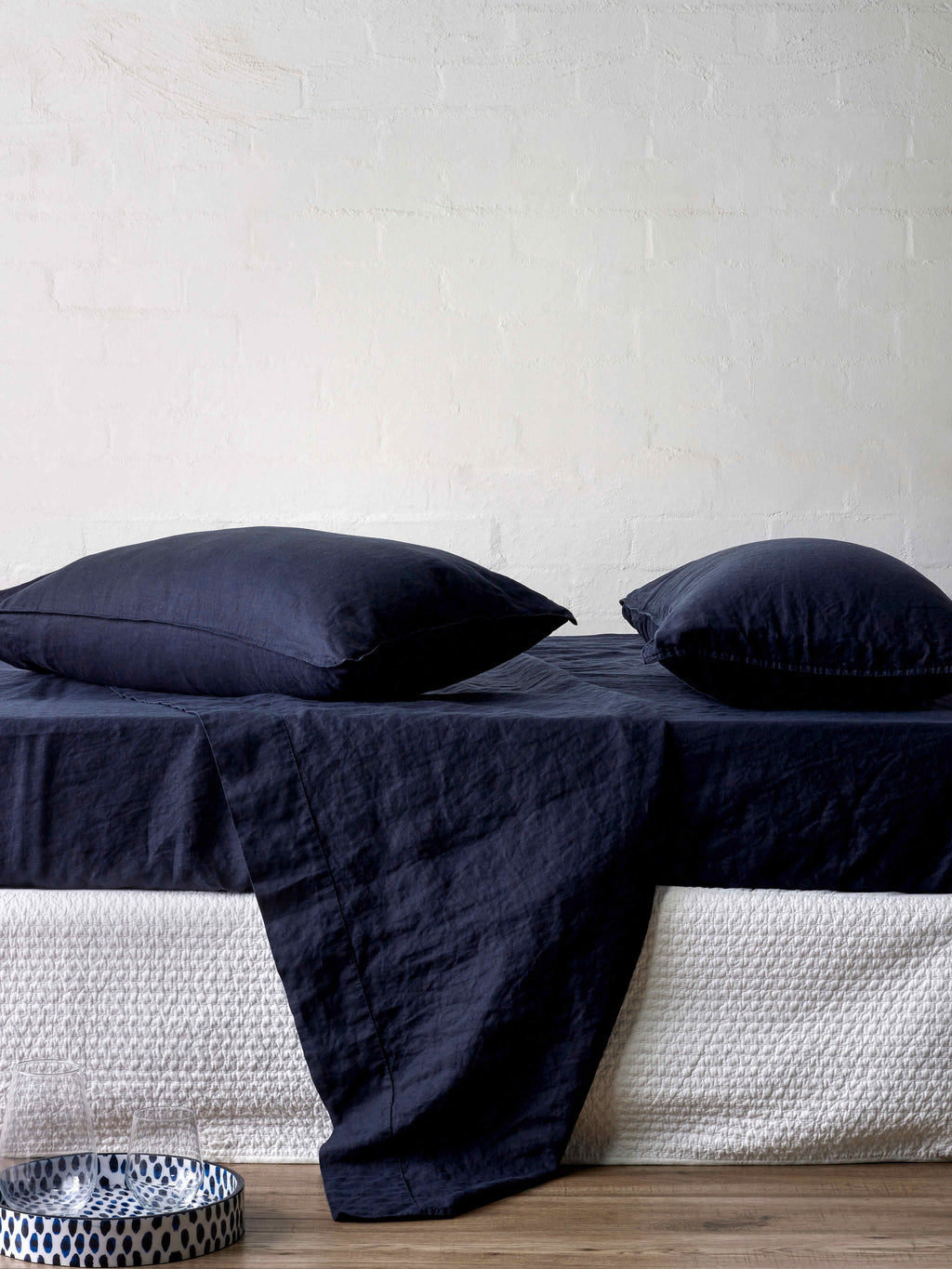 Mondo Navy Sheet Sets