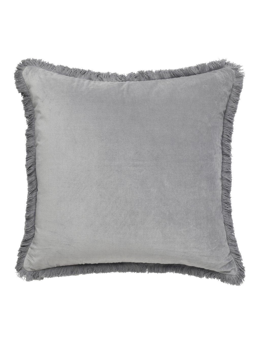 Velvet Fringe Smoke Cushion