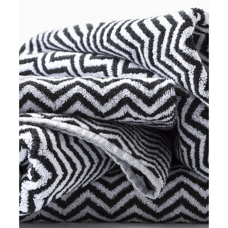 Herringbone Black/White Towels