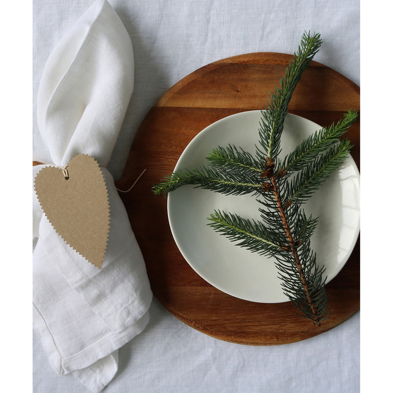 Moss White Table Cloth