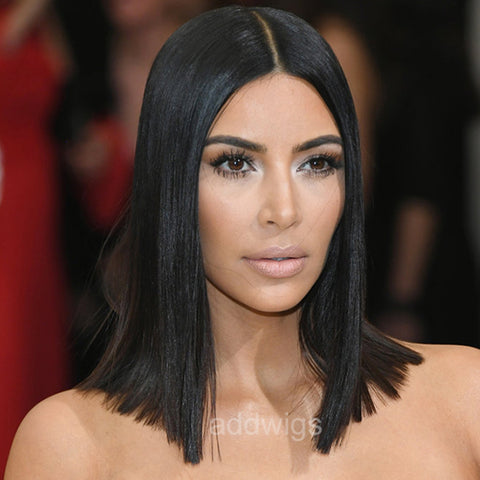 Kim Kardashian West Celebrity Customized Wigs Human Hair Lace Wig