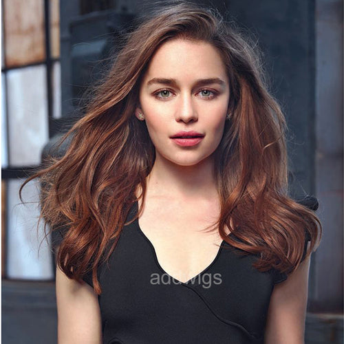 Emilia Clarke Celebrity Customized Wigs Human Hair Lace Wig