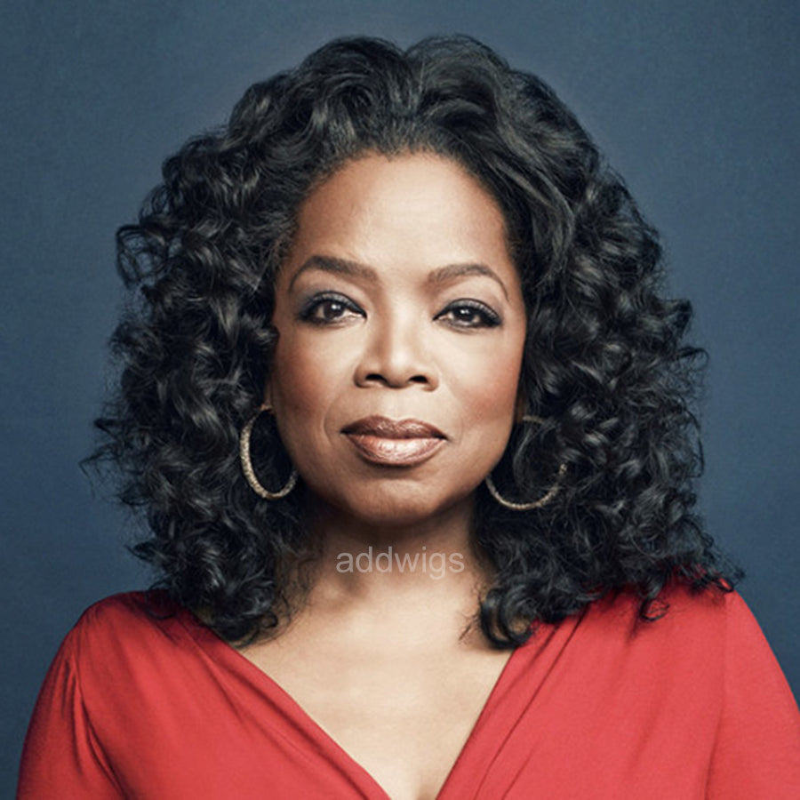 Oprah Celebrity Customized Wigs Human Hair Lace Wig
