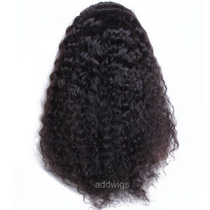 360 Lace Wigs Deep Curly Human Hair Wigs Natural Color Glueless Cap