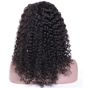 Pre-plucked 360 Lace Wigs Full Density Loose Kinky Curly Human Wigs