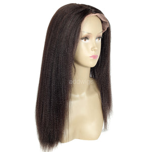 Straight Light Yaki 360 Lace Frontal Wigs for Black Women