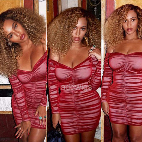 Beyoncé Celebrity Customized Wigs Human Hair Lace Wig