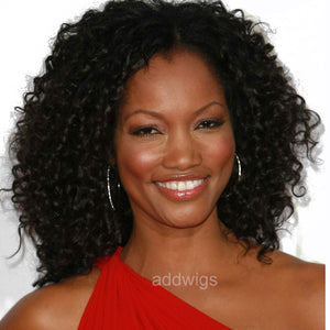 Customized Celebrity Human Hair Lace Wig Garcelle Beauvais Same Style