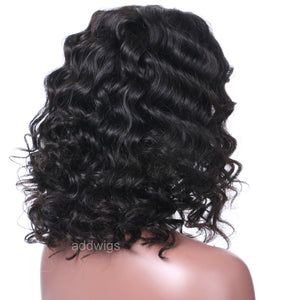 Deep Wave Short Bob Wigs | Best Human Hair Wigs - addwigs