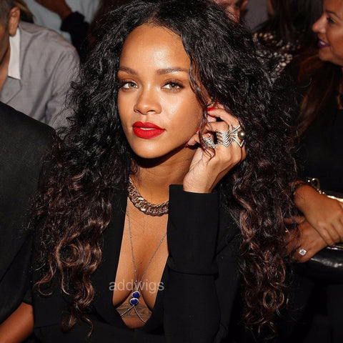 Robyn Rihanna Fenty Celebrity Customized Wigs Human Hair Lace Wig