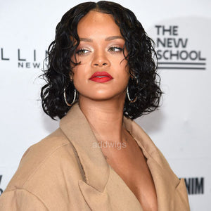 Rihanna Celebrity Customized Wigs Human Hair Lace Wig