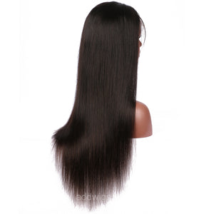 Silk Straight Full Lace Wig 130% Density Human Hair Lace Wigs