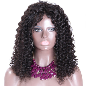 Pre-plucked Full Lace Wig Loose Kinky Curly Human Hair Lace Wigs