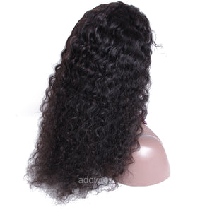 Full Lace Wigs Deep Curly Human Hair Wigs Natural Color Glueless Cap