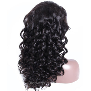 Tight Loose Wave Natural Color Full Lace Wig Best Lace Human Hair Wigs